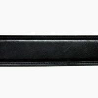 Hakiki Deri Kemer - Dikiş Motifli - 3.5 cm - Siyah
