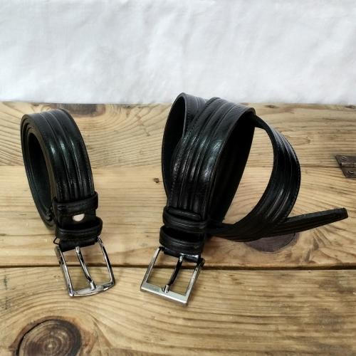 Kemer - Dikiş İzli - 3 cm - Siyah